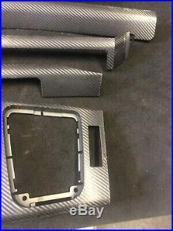 01-06 BMW E46 M3 Coupe Titan Shadow Interior Trim Kit 8pc Set Carbon Fiber Wrap