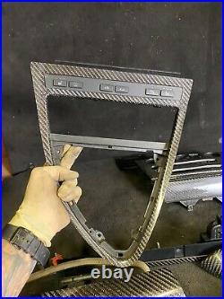 06-10 Bmw E63 E64 M6 Interior Carbon Fiber Trim Trims Set Oem