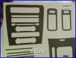 07-14 mustang real raw carbon fiber dash interior trim kit 2007 2008 2009 2010