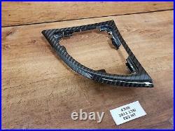 08-13 BMW E82 Carbon Fiber Center Console Doors Interior Trim SET NOTE