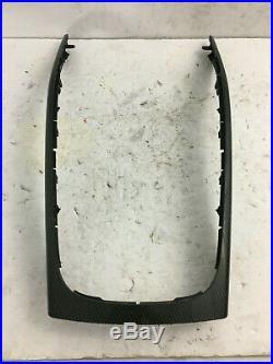 08-16 Audi A5 S5 Coupe Convertible Interior Carbon Fiber Center Console Trim