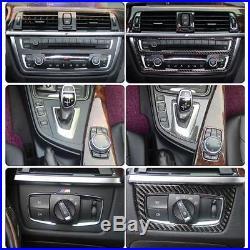1 Kit BMW 3 4 Series Carbon Fiber Trim Stickers Interior Decor Cover F30 F32 F34