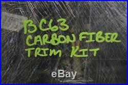 12-15 W204 Mercedes C63 Amg Sedan Carbon Fiber Interior Dash & Door Trim Set