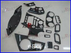 13pcs Carbon Fiber Rhd Interior Trims For 1993-1998 Supra Jza80 Mkiv