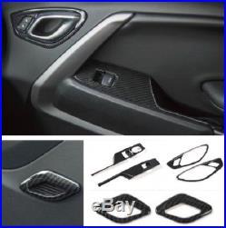 16+ chevrolet camaro carbon fiber interior door handle trim kit ALI