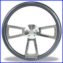 18 Billet & Carbon Fiber Steering Wheel for Peterbilt, Kenworth Big Rig Truck