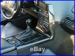 1992-1993 C4 Corvette Interior Radio Bezel & Shifter Console Carbon Fiber
