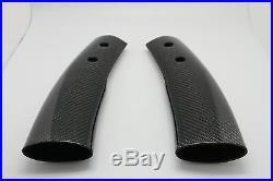 (2) Carbon Interior Console Post Trims For MINI COOPER S R50 R52 R53 2001-2006