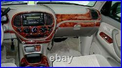 2001 2002 2003 2004 Toyota Sequoia Sr-5 Sr5 4wd Interior Wood Dash Trim Kit Set