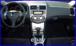 2003 04 05 06 07 Honda Accord Coupe Sedan Interior Silver Aluminum Dash Trim Kit