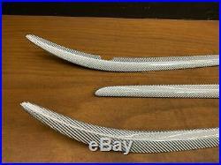 2009 Maserati Granturismo S Interior Silver Carbon Fiber Cover Trim Set OEM