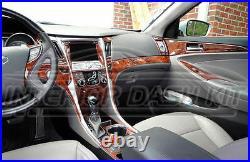 2011 2012 2013 2014 Interior Wood Dash Trim Kit For Hyundai Sonata Gls Se Lmtd