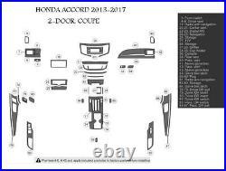 2013 2014 2015 2016 2017 Honda Accord 2 Door Interior Carbon Fiber Dash Trim Kit
