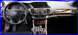 2013 2014 2015 2016 2017 Honda Accord Interior Wood Dash Trim Kit Coupe Sedan