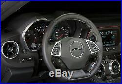 2016 Chevy Gen 6 Camaro 8pc Interior Knob Kit Black Carbon Fiber (code-gba)