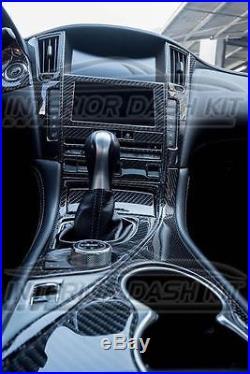 2017 2018 2019 Interior Real Carbon Fiber Dash Trim Kit For Infiniti Q60 Q 60