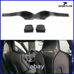 4PCS Carbon Fiber Interior Seat Back Trim Cover for BMW F80 M3 F82 F83 M4 14-19