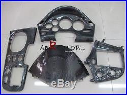 4pcs Carbon Fiber Rhd Interior For 92-97 Rx7 Fd3s