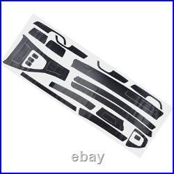 5D Interior Glossy Carbon Fiber Wrap Trim Decal Fit For BMW 3 Series E90 2005-13