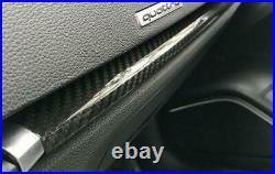 7pcs Car Interior Door Panel Cover Trim For Audi A3 S3 RS3 8V Real Carbon Fiber