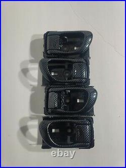 98-02 JDM Subaru Forester Faux Carbon Fiber Interior Door Handle Set