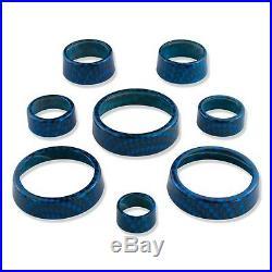 ABD 2014+ C7 Stingray & Z06 Interior Control Knobs Carbon Fiber Laguna Blue Met
