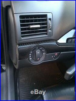 Audi B6 A4 / S4 Cabriolet Vvivid Black Carbon Fiber Interior Trim Set (9)