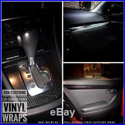 Audi B8 2008-2016 A4/S4/RS4 Black Carbon Fiber Interior Wrapped Trim (OEM)
