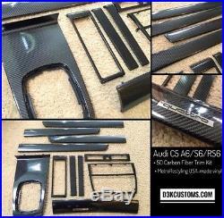 Audi C5 1997-2004 A6 S6 RS6 Carbon Fiber Interior Trim -Complete Set (11 Pc)