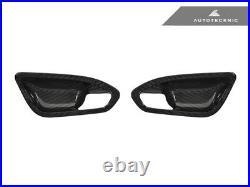 AutoTecknic BM-0356 Carbon Fiber Interior Door Handle Trims Fits 16+ BMW F87 M2
