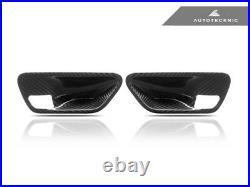 AutoTecknic BM-0360 Carbon Interior Door Handle Trims Fits BMW F-Chassis 2DR