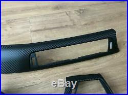 BMW 3/4 F30/31 F34GT F32 Black Carbon Fiber wrapped interior trim set for RHD
