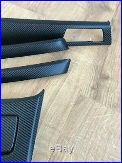 BMW 3 series E90/E91 Black Carbon Fiber Wrapped Interior Trim Set with CCC hole