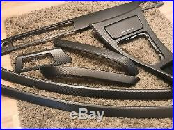 BMW 3 series E90/E91 Gun Metal Gray Carbon Fiber Wrapped Interior Trim Set