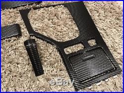 BMW 5 series e39 Black Carbon Fiber Wrapped Interior Trim Set