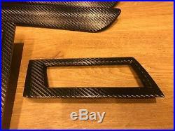BMW 5 series e60 e61 LCI Black Carbon Fiber Wrapped Interior Trim Set