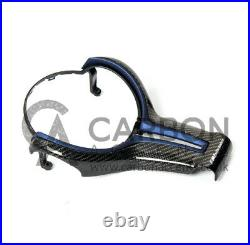 BMW Carbon Fibre Fiber Steering Wheel Trim Blue M Performance M2 F87 M3 M4