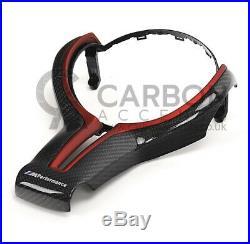 BMW Carbon Fibre Fiber Steering Wheel Trim Red M Performance M2 M3 F80 M4 F82