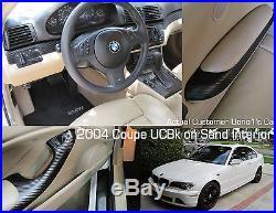 BMW E46 Sedan/Coupe/Convertible 4 Piece Interior Dash Trim Set in Carbon Fiber