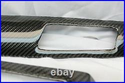 BMW E60 Carbon Fiber DASH INTERIOR Trim Kit pre lci m5 8 piece