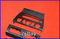 BMW E64 650 M6 Carbon Fiber Front & Rear Interior Dash Door Center Cover Set OEM