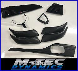 BMW F20 Performance Black Alcantara Carbon Fibre Interior Trim Dash Set Full 140