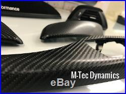 BMW F21 F22 Performance Black Alcantara Carbon Fibre Interior Trim Dash Set 140i