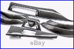 BMW F30 F34 F36 Carbon Fiber Interior Dash Trim black accent 4 Door Sedan LHD
