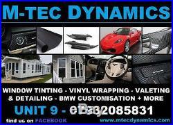 BMW F32 F82 M4 Performance Black Alcantara Carbon Fibre Interior Trim Dash Set 1