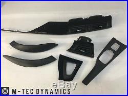 BMW F33 F83 M4 Performance Black Alcantara Carbon Fibre Interior Trim Dash Set 1