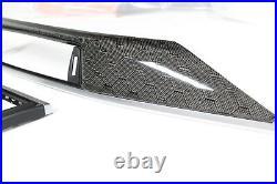 BMW F80 M3 HONEYCOMB Carbon Fiber Interior Dash Trim w silver accent