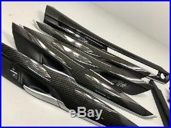BMW X5 F15 Carbon Fiber M Performance Interior Trim Kit Dashboard 2016 8 pcs RHD