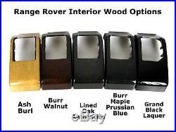 Black Carbon Fiber Interior Dash End Panels for Range Rover L322 Vogue 06+ Fibre