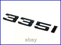 Bmw 335 335i Carbon Fiber Trunk Letters Badge Emblem